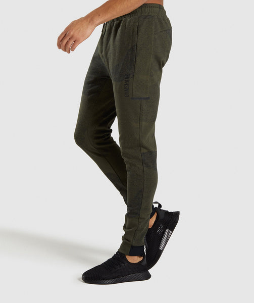 Gymshark Ultra Jacquard Joggers - Woodland Green 2