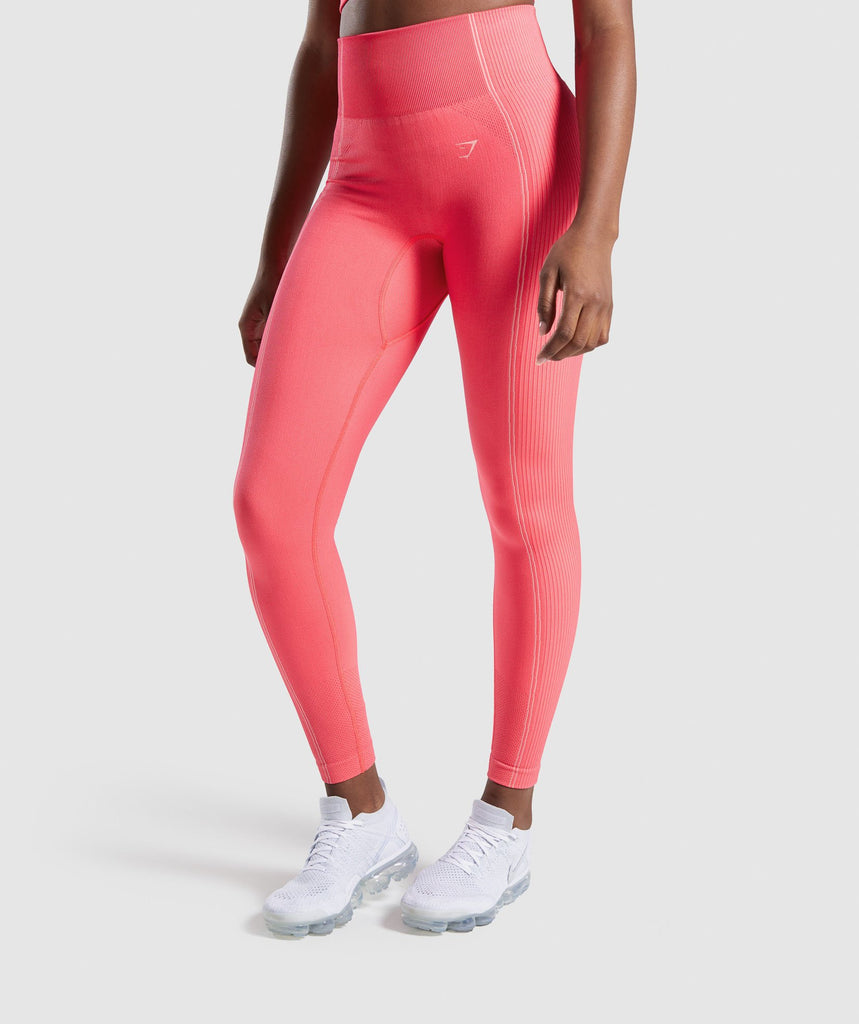 Gymshark Ultra Seamless Leggings - Pink 1