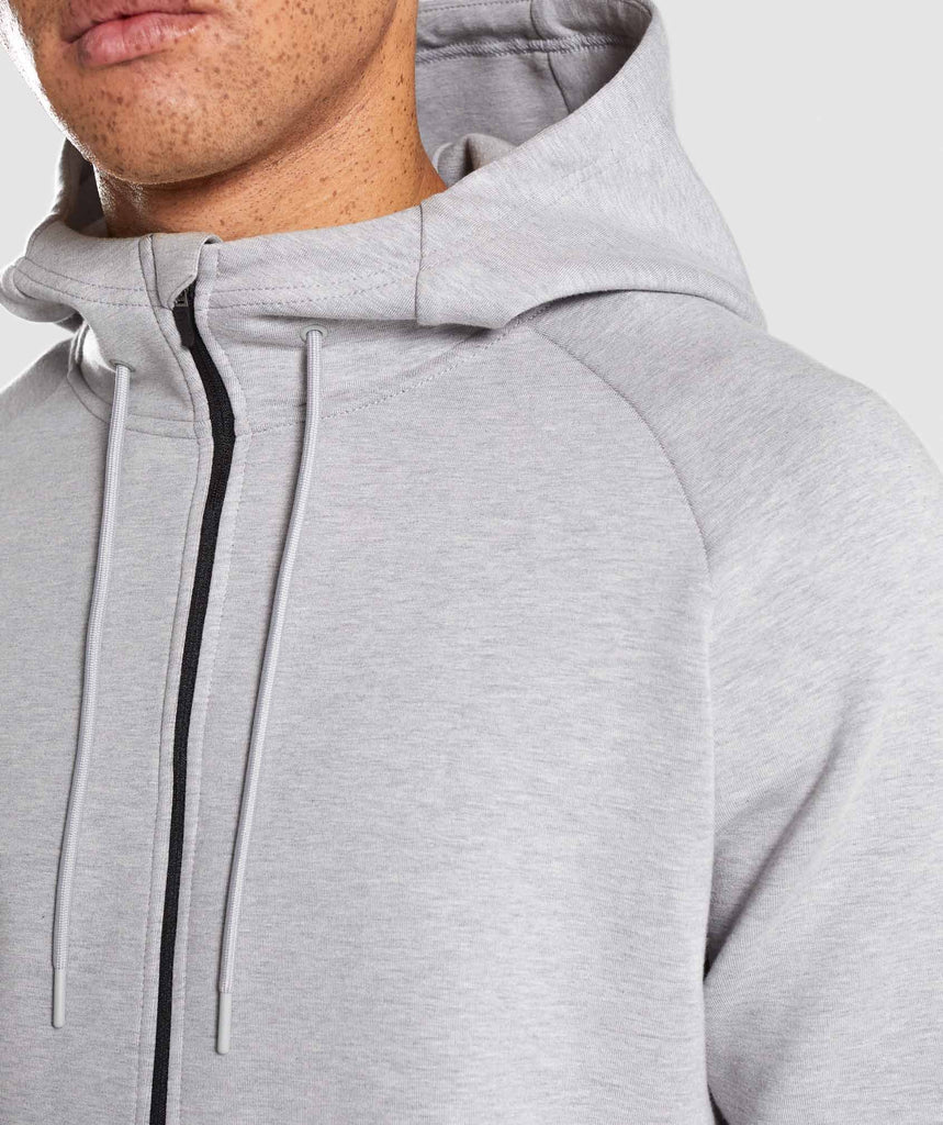 Gymshark Ultra Zip Hoodie - Light Grey Marl 5