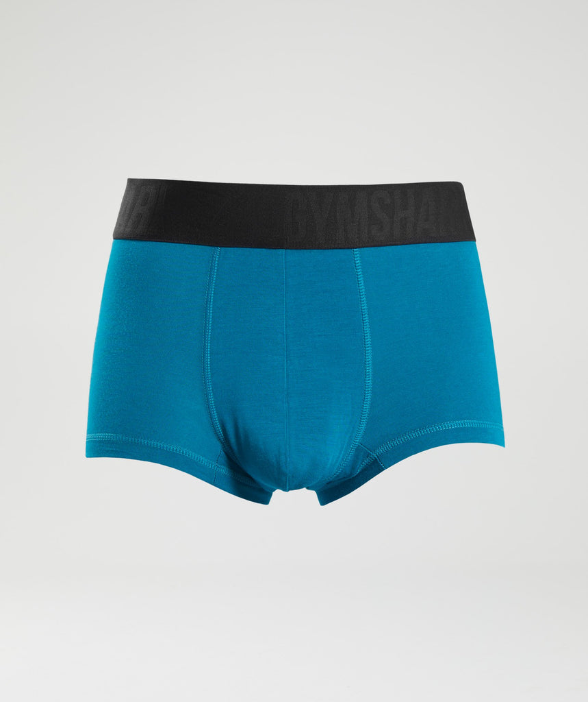 Gymshark Mens Hipsters 2pk - Deep Teal/Black 1