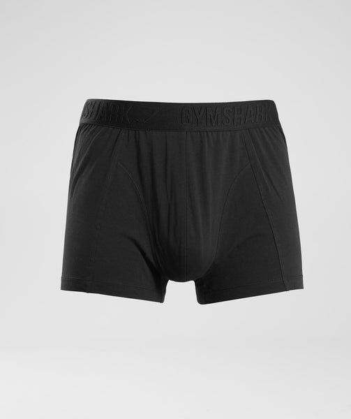 Gymshark Debossed Logo Trunks 2pk - Black 4