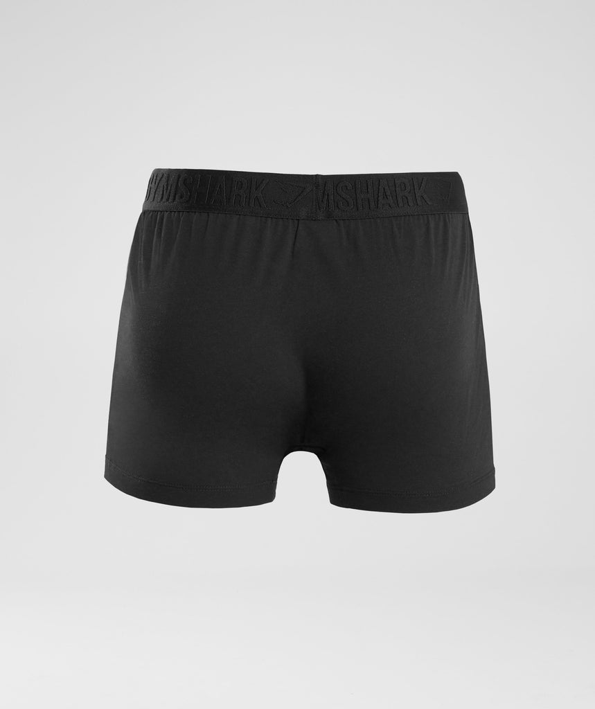Gymshark Debossed Logo Trunks 2pk - Black 2