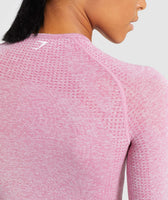 Gymshark Vital Long Sleeve Crop Top - Dusky Pink Marl 12