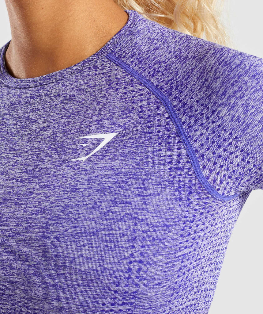 Gymshark Vital Long Sleeve Crop Top - Indigo Marl 5