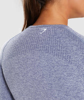 Steel Blue Marl Vital Seamless Long Sleeve T-Shirt Logo From Back 11