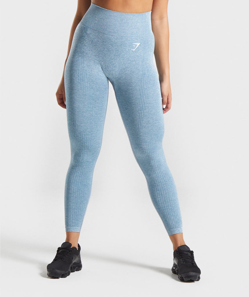 Gymshark Vital Seamless Leggings - Teal Marl 1
