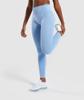 Gymshark Vital Seamless Leggings - Blue 9