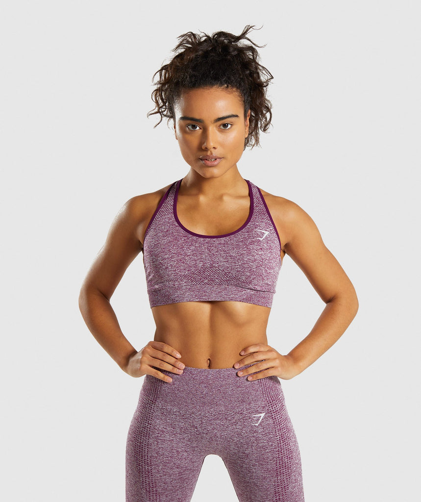 def2c71780082 Gymshark Vital Seamless Sports Bra - Purple 1