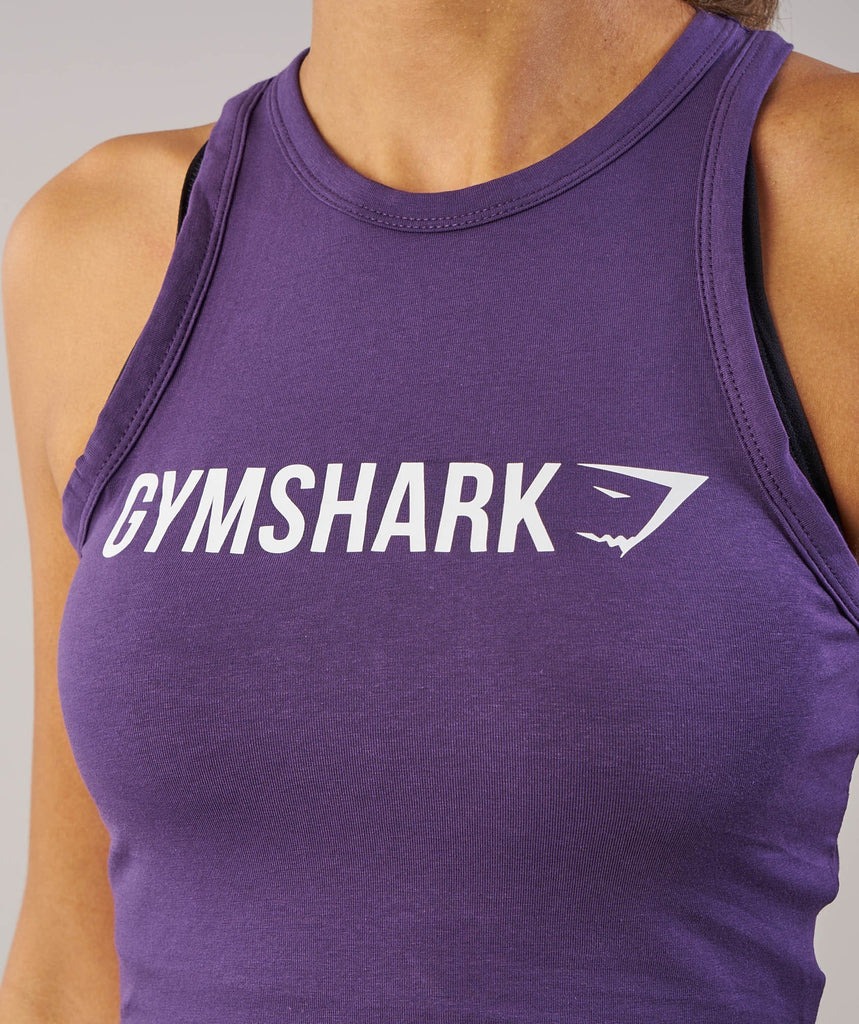Gymshark Ribbon Crop Top - Rich Purple 5