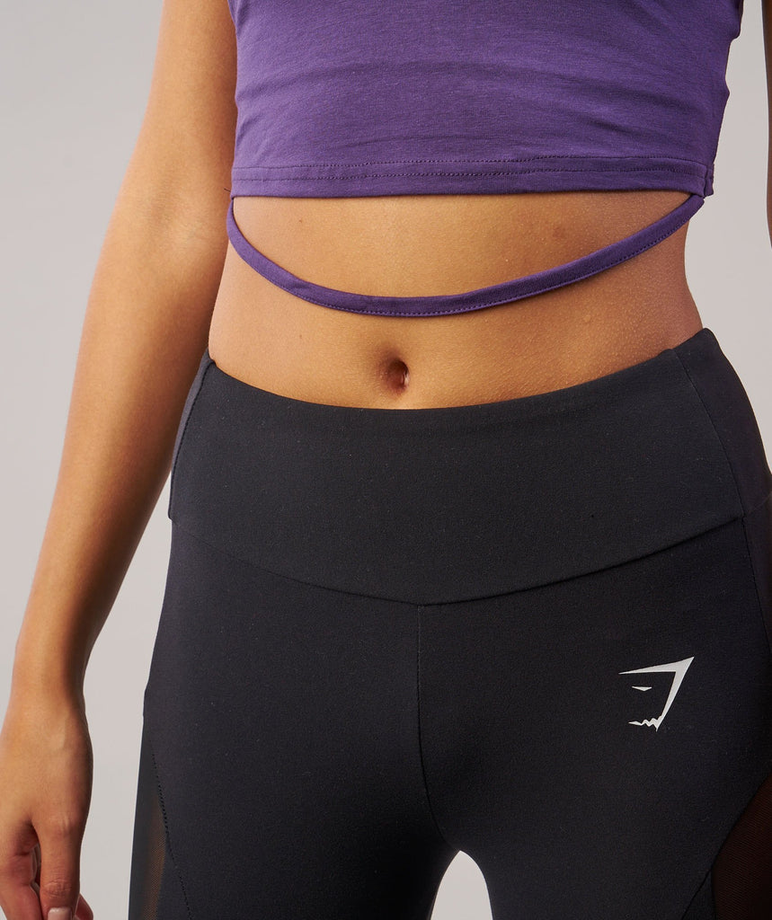 Gymshark Ribbon Crop Top - Rich Purple 6
