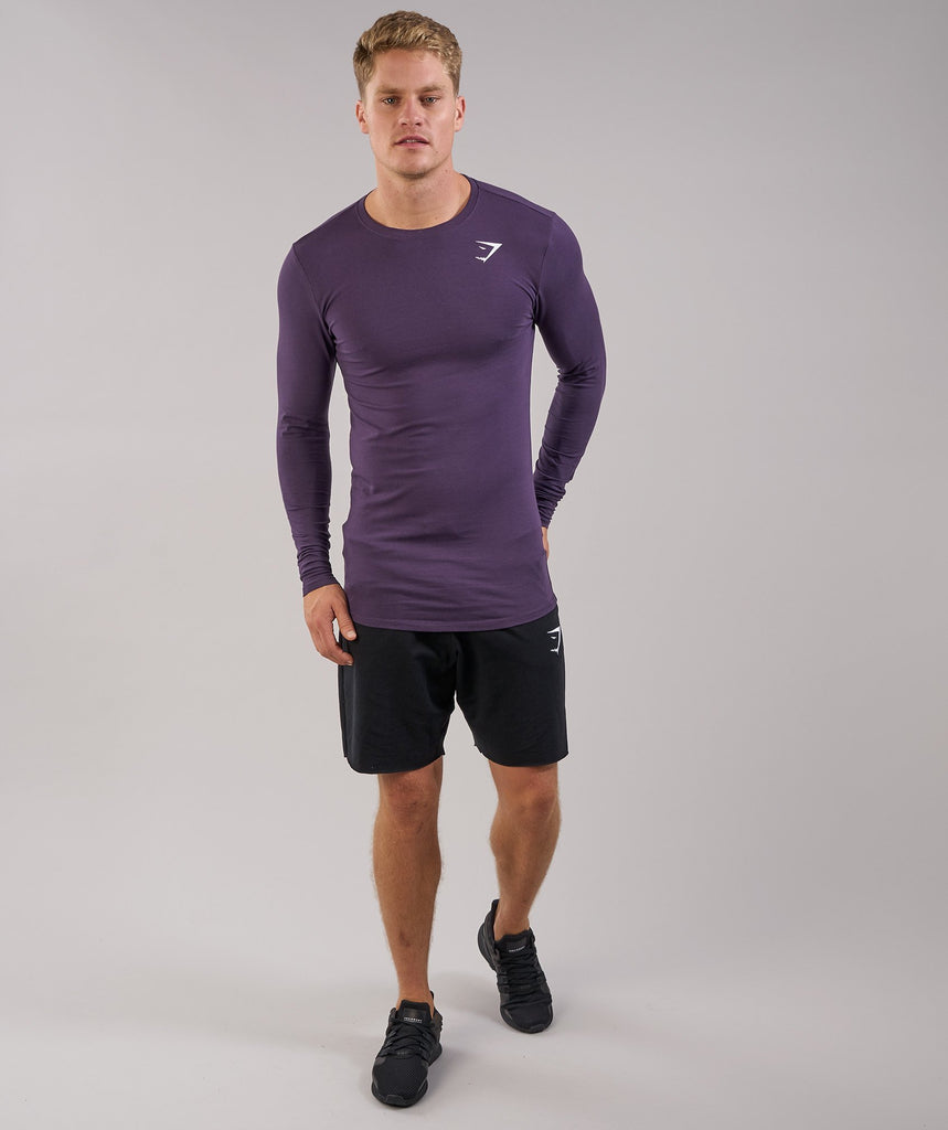 Gymshark Ark Long Sleeve T-Shirt - Nightshade Purple