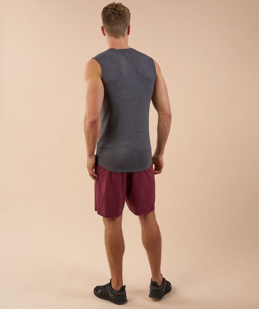 Gymshark Ark Sleeveless T-Shirt - Charcoal Marl 2