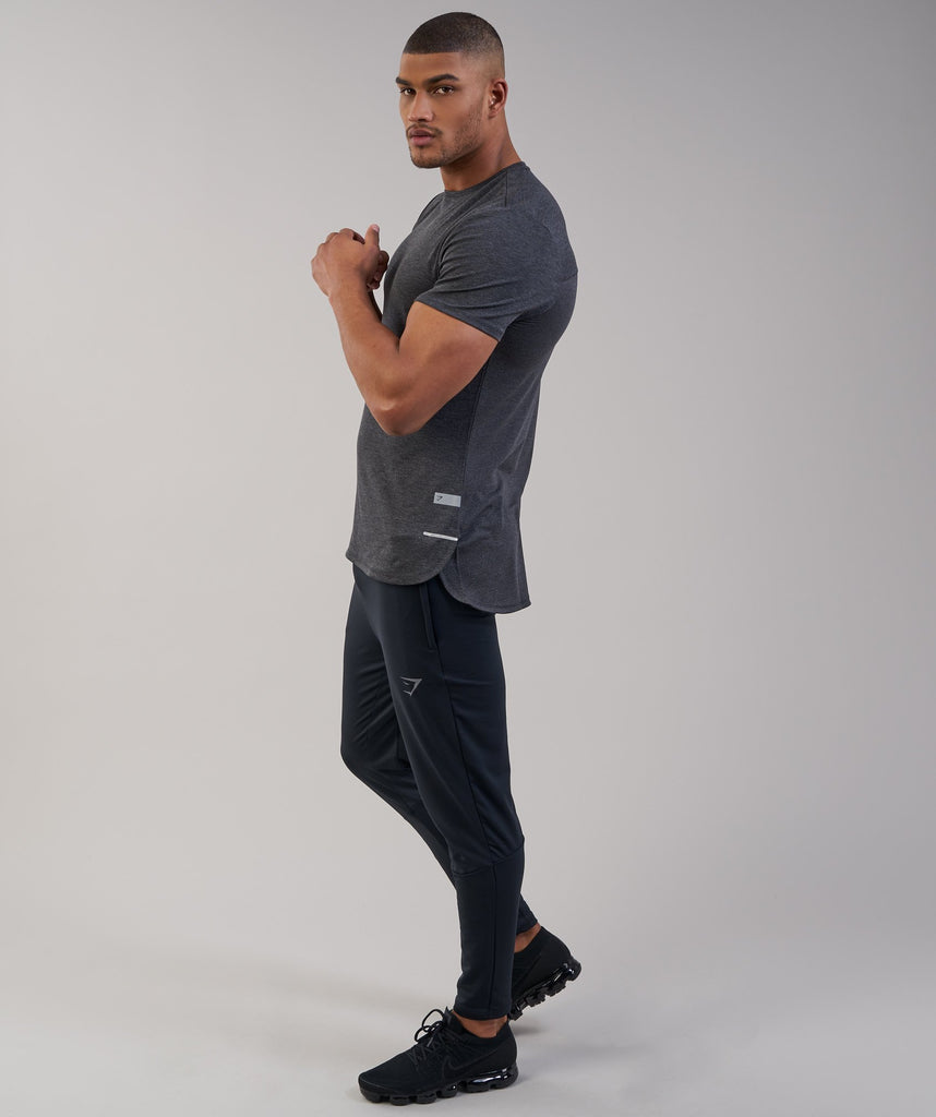 Gymshark Breathe T-Shirt - Black Marl 6