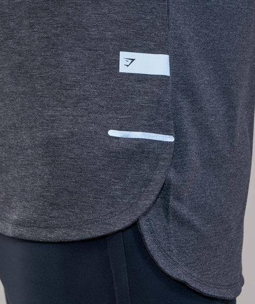 Gymshark Breathe T-Shirt - Black Marl 1