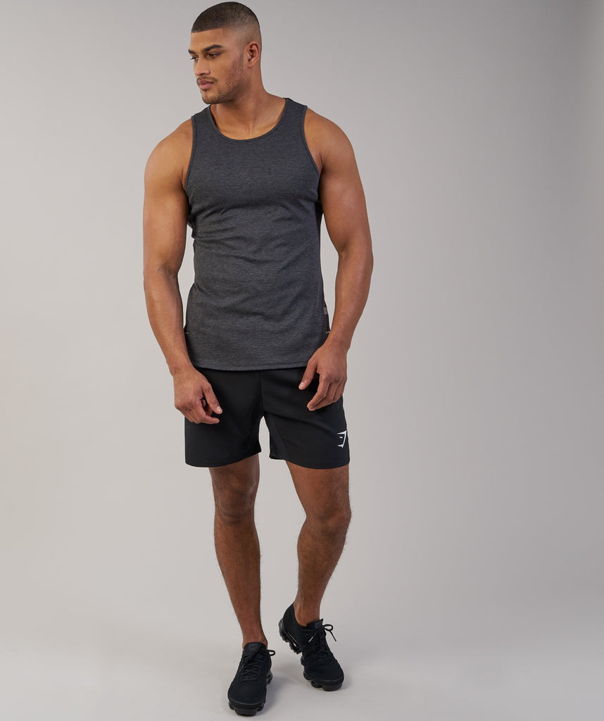 Gymshark Breathe Tank - Black Marl 1