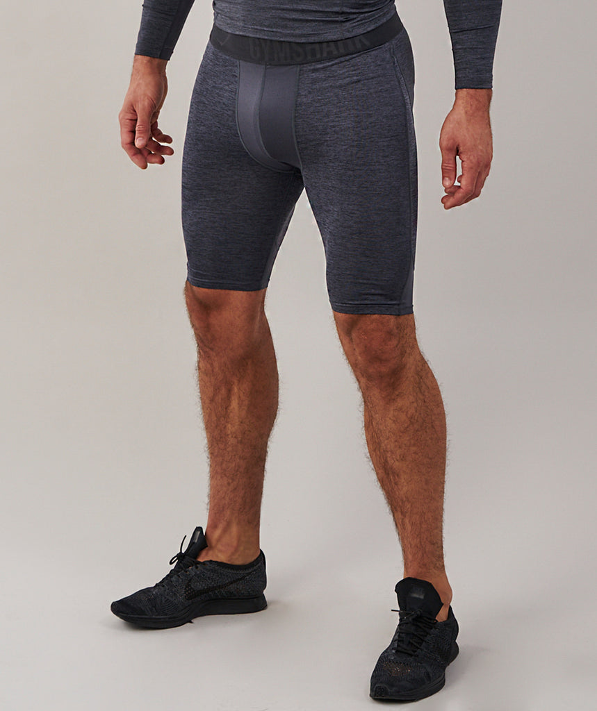 Gymshark Element Baselayer Shorts - Charcoal Marl 6