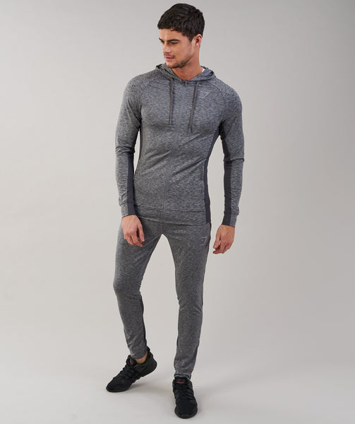 Gymshark Fallout Zip Hoodie - Charcoal Marl 2