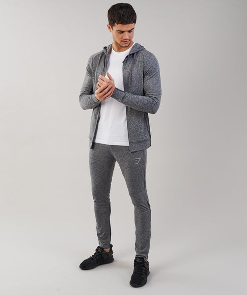 Gymshark Fallout Zip Hoodie - Charcoal Marl 3