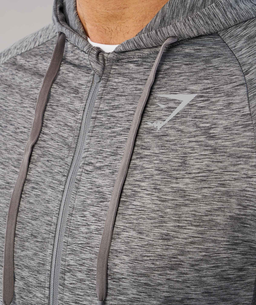 Gymshark Fallout Zip Hoodie - Charcoal Marl 5