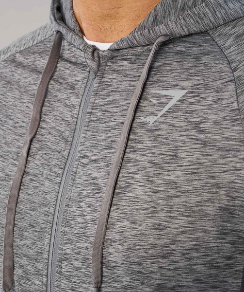 Gymshark Fallout Zip Hoodie - Charcoal Marl 4