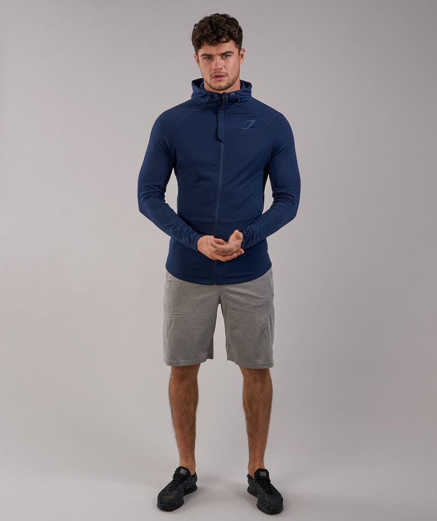 Gymshark Fit Hooded Top - Sapphire Blue