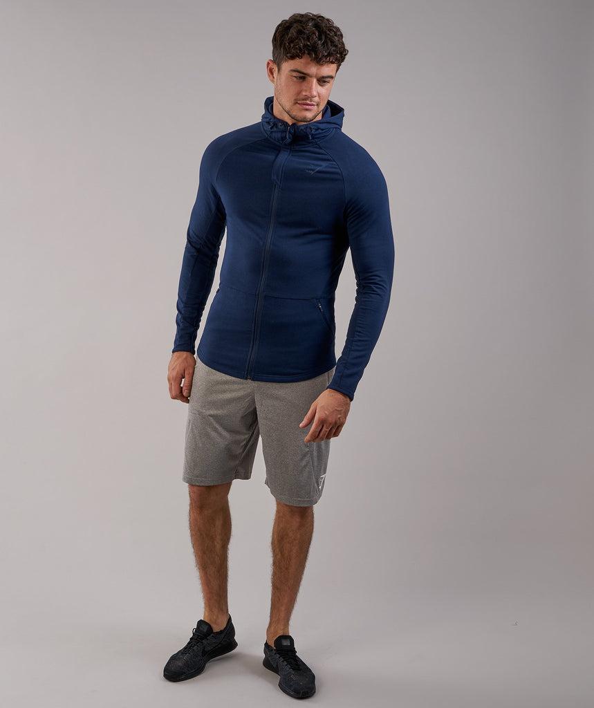 Gymshark Fit Hooded Top - Sapphire Blue 1