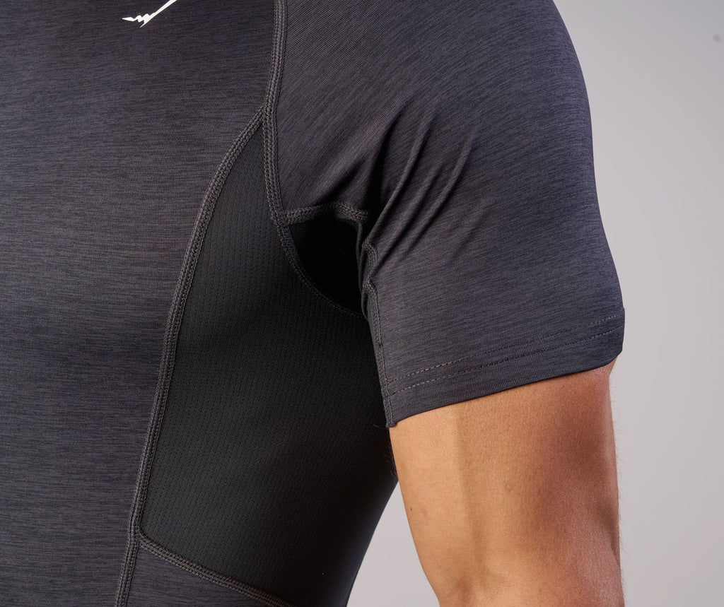 Gymshark Element Baselayer Short Sleeve Top - Black Marl 5