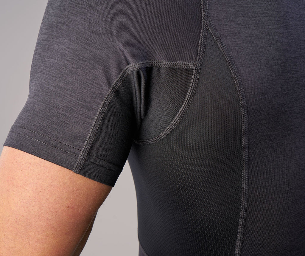 Gymshark Element Baselayer Short Sleeve Top - Black Marl 6