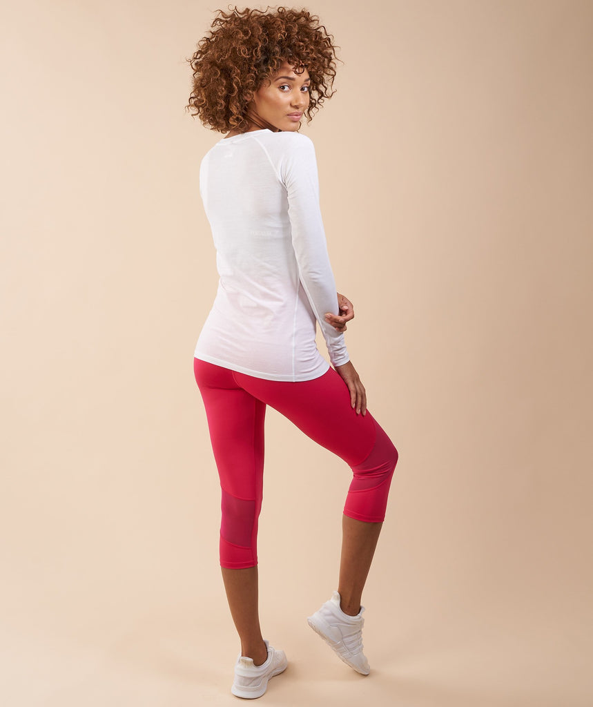 Gymshark Fusion Cropped Leggings - Cranberry