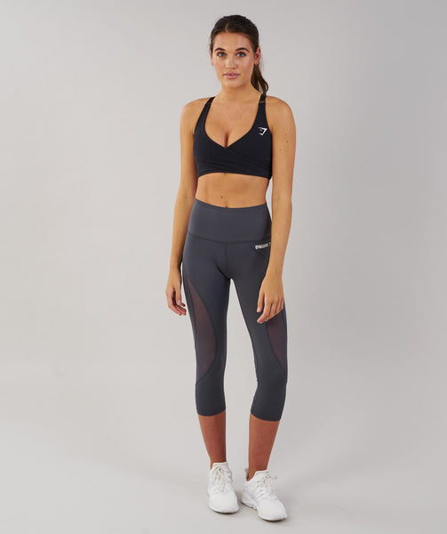 Gymshark Fusion Cropped Leggings - Charcoal 3