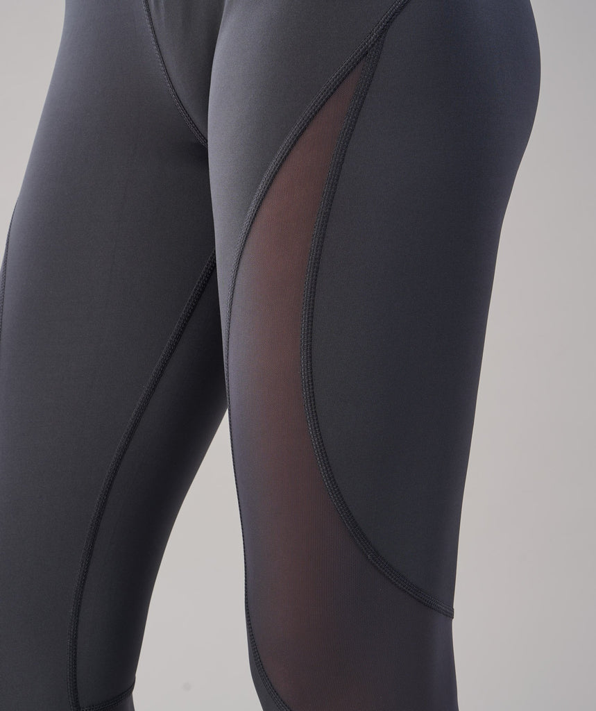 Gymshark Fusion Cropped Leggings - Charcoal 6