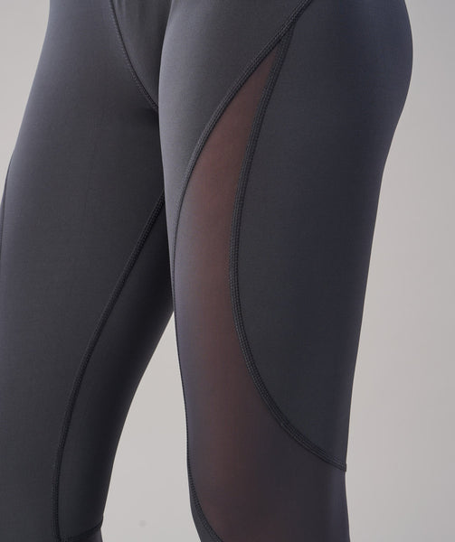 Gymshark Fusion Cropped Leggings - Charcoal 4
