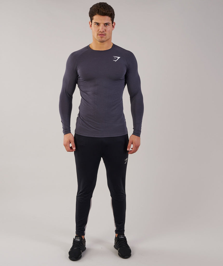 Gymshark Lightweight Long Sleeve T-Shirt - Charcoal 1
