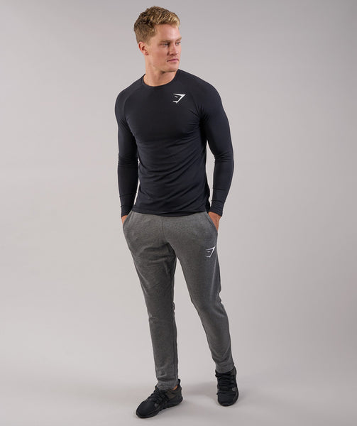 Gymshark Lightweight Long Sleeve T-Shirt - Black 2