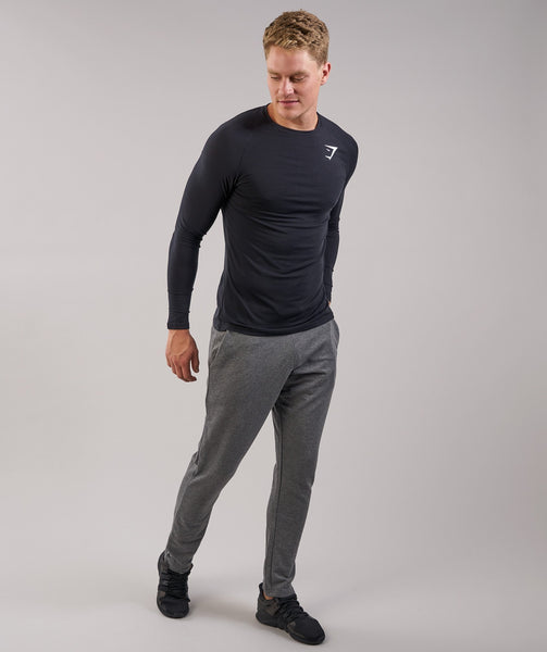 Gymshark Lightweight Long Sleeve T-Shirt - Black 3