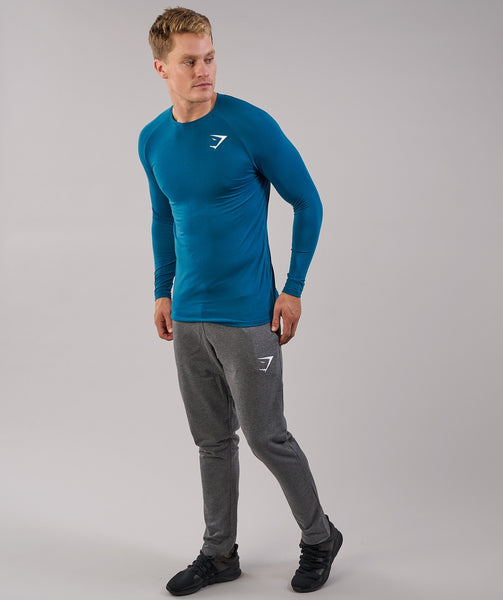Gymshark Lightweight Long Sleeve T-Shirt - Deep Teal 2