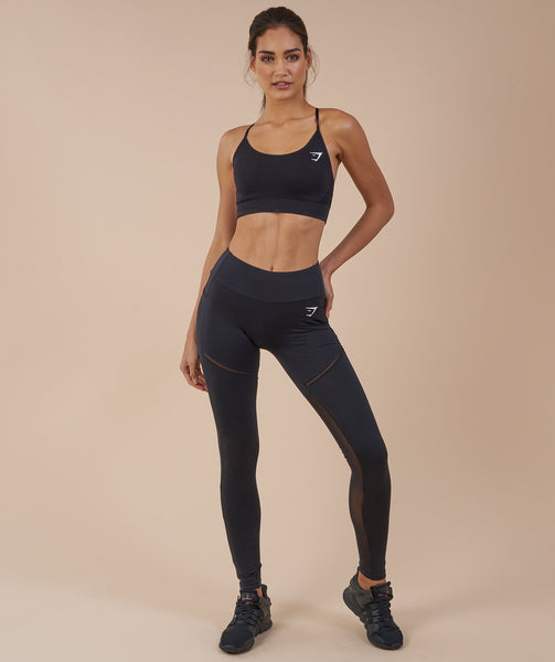 Gymshark Simply Mesh Leggings - Black 4