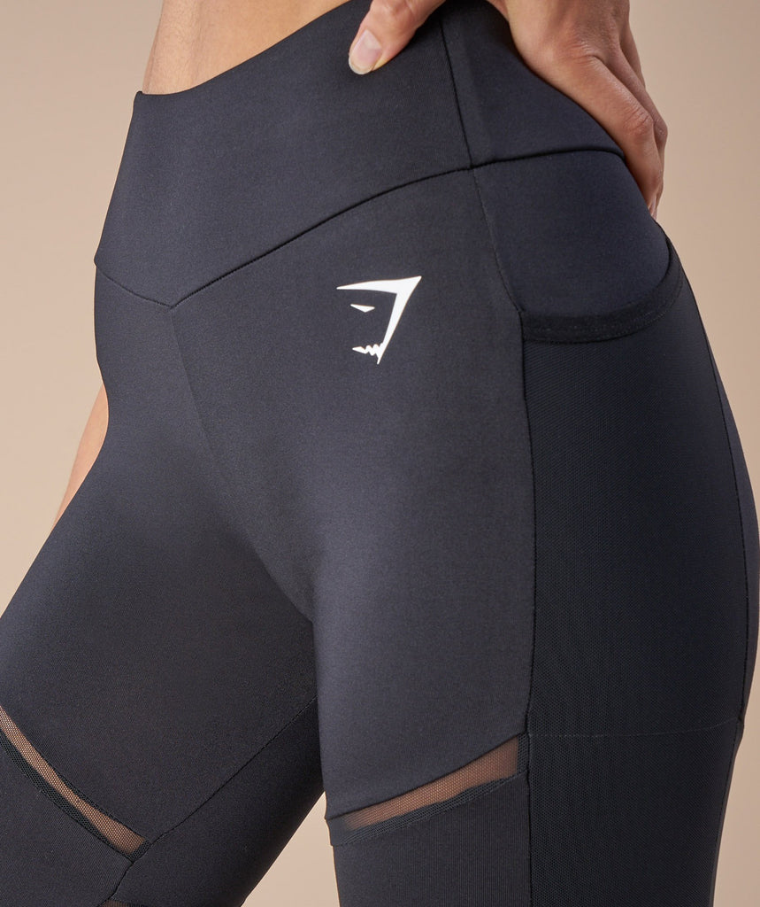 Gymshark Simply Mesh Leggings - Black 6