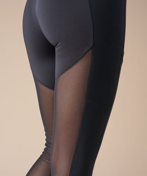 Gymshark Simply Mesh Leggings - Black 3