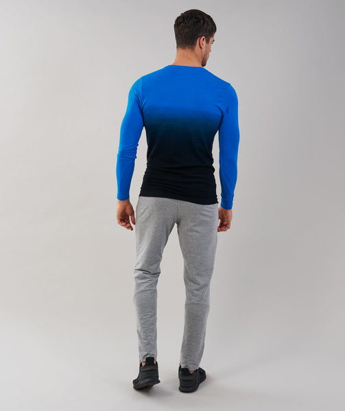Gymshark Ombre Long Sleeve T-Shirt - Dive Blue/Black 4
