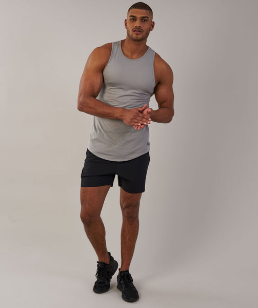 Perforated Longline Tank - Light Grey 3