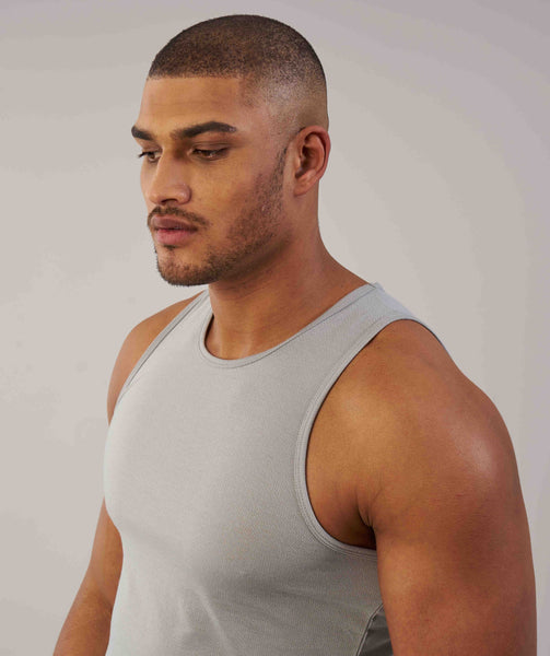 Perforated Longline Tank - Light Grey 4