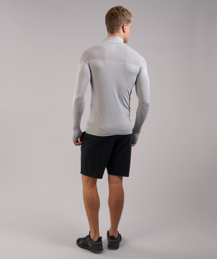 Gymshark Phantom Seamless 1/4 Zip Pullover - Grey 2