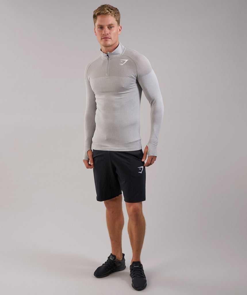 Gymshark Phantom Seamless 1/4 Zip Pullover - Grey 1