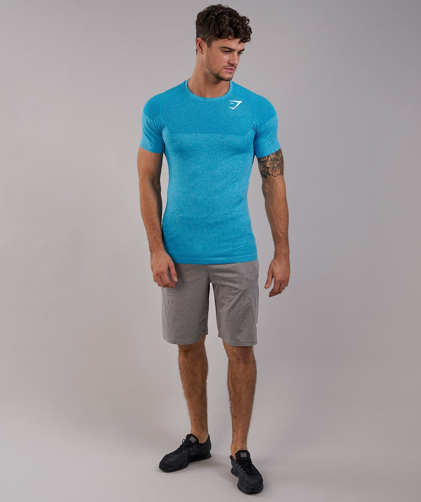 Gymshark Phantom Seamless T-Shirt - Blue 1