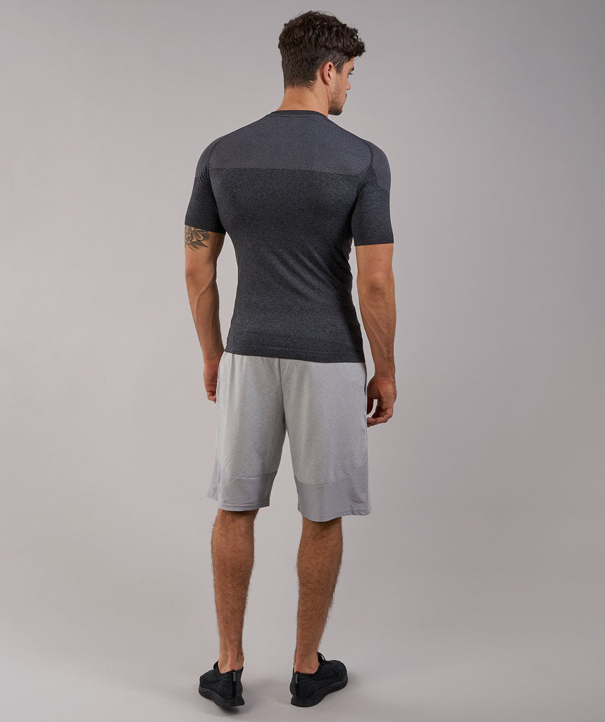 Gymshark Phantom Seamless T-Shirt - Black Marl 2