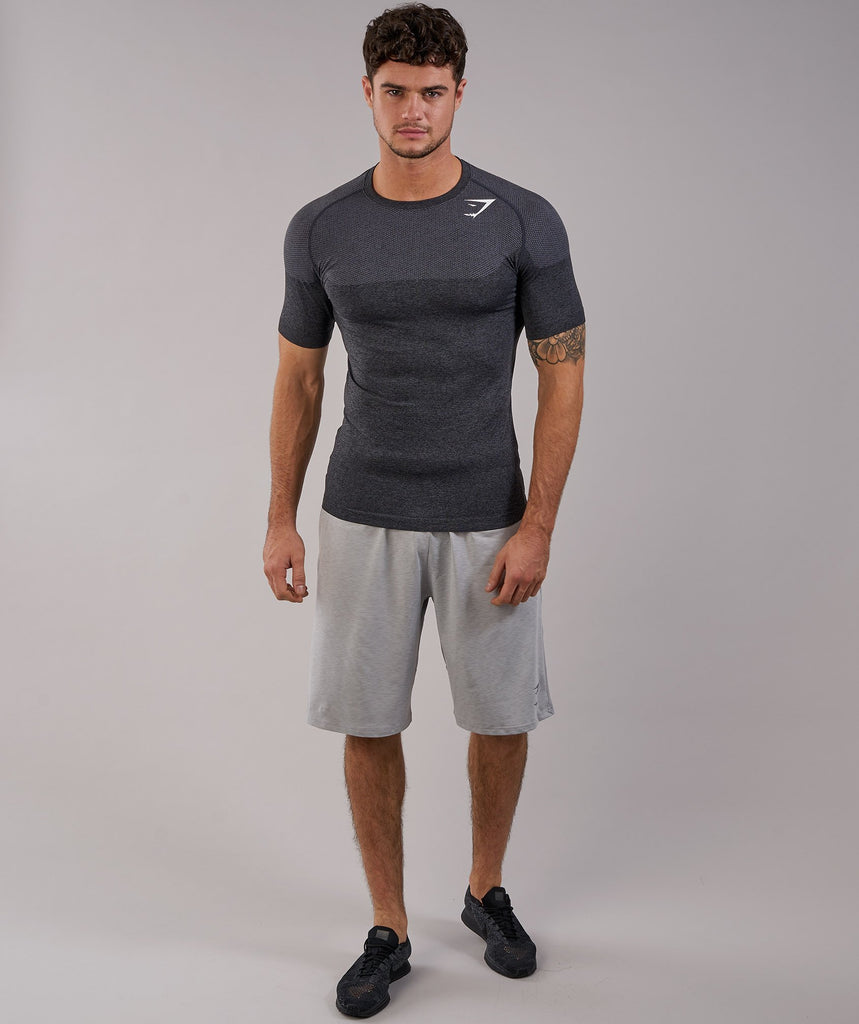 Gymshark Phantom Seamless T-Shirt - Black Marl 1