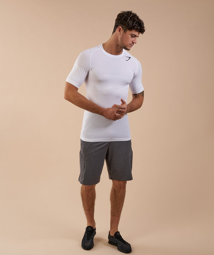 Gymshark Phantom Seamless T-Shirt - White Marl 2