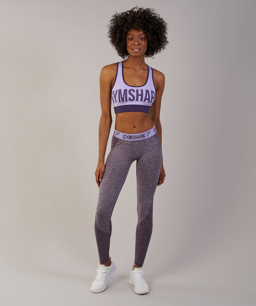 Gymshark Reversible Sports Bra - Rich Purple/Soft Lilac 2