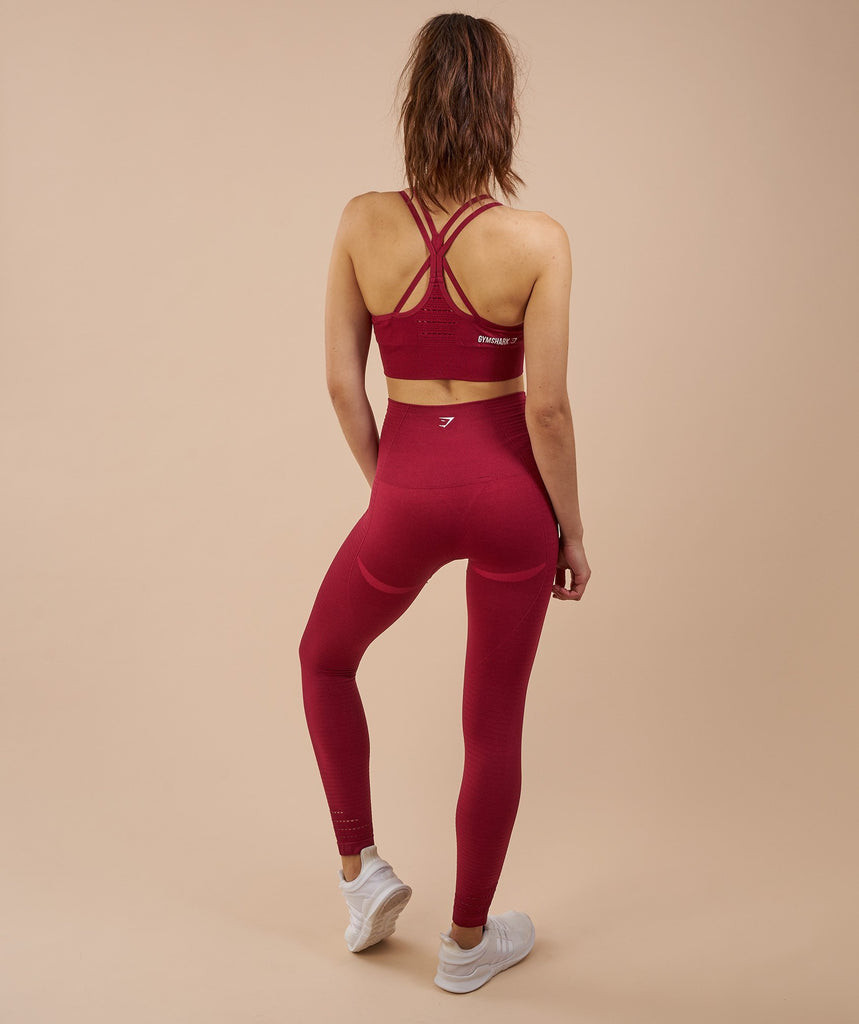 Gymshark Seamless Cross Back Sports Bra - Beet 2